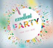 Cartel del partido. Fotos de archivo libres de regalías