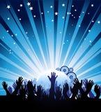 Cartel del partido Imagen de archivo libre de regalías