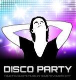 Cartel del partido de disco Foto de archivo