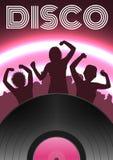 Cartel del partido de disco Imágenes de archivo libres de regalías