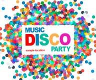 Cartel del partido de disco Imagenes de archivo