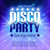 Cartel del partido de disco Imagen de archivo
