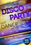 Cartel del partido de disco del club de noche Fotografía de archivo libre de regalías