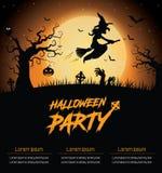 Cartel del partido de Halloween fotos de archivo