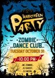 Cartel del partido de Halloween Imagen de archivo