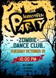 Cartel del partido de Halloween Fotos de archivo libres de regalías