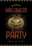 Cartel del partido de Halloween Fotografía de archivo