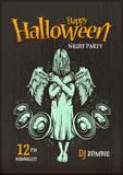 Cartel del partido de Halloween Imágenes de archivo libres de regalías