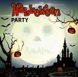 Cartel del partido de Halloween ilustración del vector