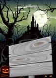Cartel del partido de Halloween stock de ilustración