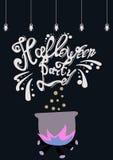 Cartel del partido de Halloween Imagen de archivo libre de regalías