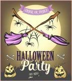 Cartel del partido de Halloween Ilustración Fotos de archivo libres de regalías