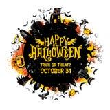 Cartel del partido de Halloween Ilustración del vector Fotos de archivo libres de regalías