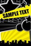 Cartel del partido de la ciudad Imagen de archivo libre de regalías