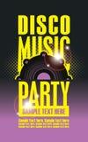 Cartel del partido de la música del disco Fotografía de archivo libre de regalías