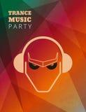 Cartel del partido de la música del trance Fotografía de archivo