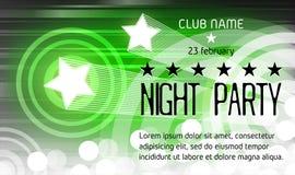 Cartel del partido de la noche con el lugar para el texto Imagen de archivo