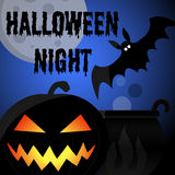 Cartel del partido de la noche de Halloween ilustración del vector