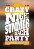 Cartel del partido de la noche de verano Imágenes de archivo libres de regalías