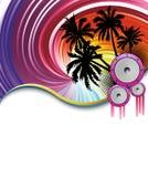 Cartel del partido de la playa del arco iris Fotografía de archivo