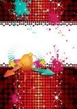 Cartel del partido del disco Fotografía de archivo libre de regalías