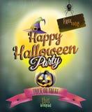 Cartel del partido del feliz Halloween EPS 10 Fotos de archivo