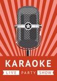 Cartel del partido del Karaoke Foto de archivo libre de regalías