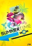 Cartel del partido del verano Imagen de archivo libre de regalías