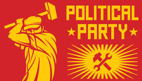 Cartel del partido político Fotos de archivo libres de regalías