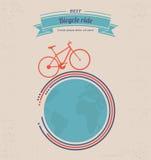 Cartel del paseo de la bicicleta Imagenes de archivo