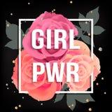 Cartel del poder de la muchacha Imagen de archivo