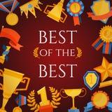 Cartel del premio y de los premios Imagen de archivo
