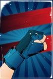 Cartel del puño stock de ilustración