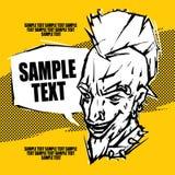 Cartel del punk rock Imágenes de archivo libres de regalías