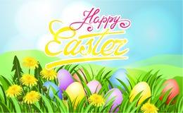 Cartel del rayo de sol de Pascua stock de ilustración