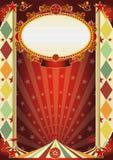 Cartel del Rhombus de la vendimia del circo Imagen de archivo libre de regalías