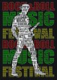CARTEL DEL ROCK-AND-ROLL Fotos de archivo