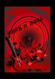 Cartel del rock-and-roll, vector de los cdr ilustración del vector