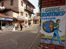 Cartel del routard de Le guide du en avanos Imagen de archivo libre de regalías