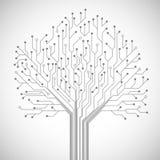 Cartel del símbolo del árbol de la placa de circuito libre illustration