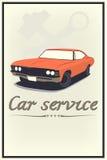 Servicio del coche del vintage Imágenes de archivo libres de regalías