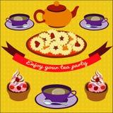 Cartel del té Fotografía de archivo
