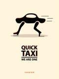 Cartel del taxi Ilustración del vector Fotografía de archivo