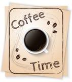 Cartel del tiempo del café Fotos de archivo