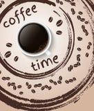 Cartel del tiempo del café Foto de archivo libre de regalías