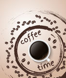 Cartel del tiempo del café Imagenes de archivo