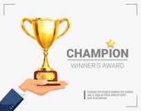 Cartel del trofeo del campeón del premio del ganador libre illustration