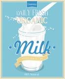 Cartel del vector con leche libre illustration