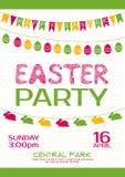 Cartel del vector de la invitación del partido de Pascua ilustración del vector