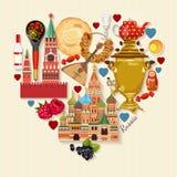 Cartel del vector de Rusia Fondo ruso concepto del recorrido Imágenes de archivo libres de regalías